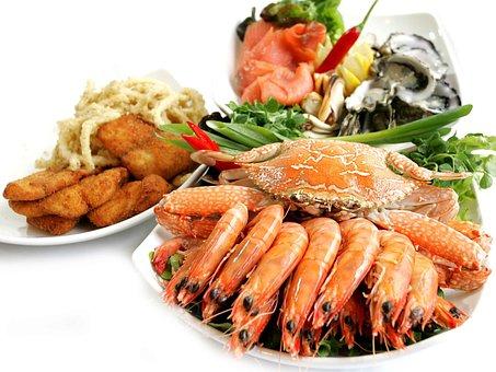 Fish, Fishfood, Meal, Prawn, Shell