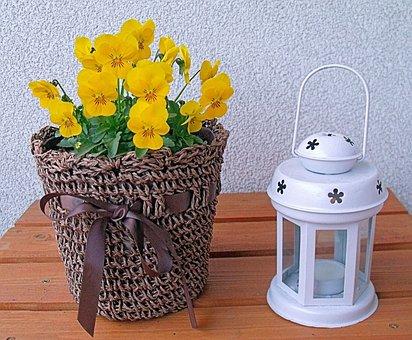 Flowers, Candle, Lantern, Flower Pot, Shopping Cart