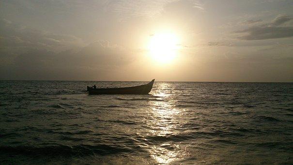 Beach, Landscape, Travel, Ocean, Orange, Romantic, Sky