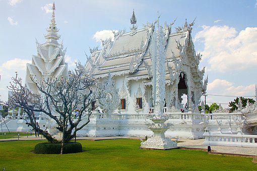 Chiang Rai, Thailand, White Temple, Asia, Temple