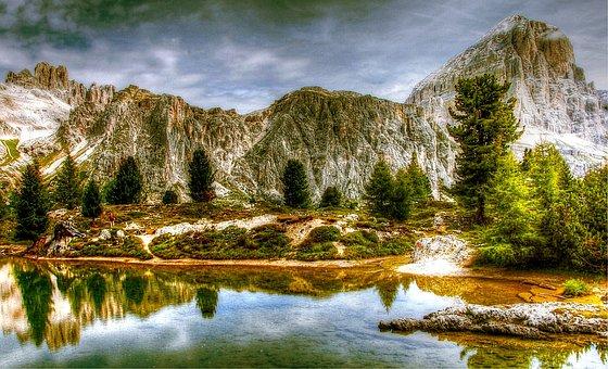 Dolomites, Mountains, Tofane, Italy, View, Alpine
