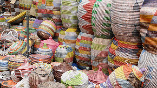 Baskets, Colorful, Woven, Stack, Wicker Basket, Craft