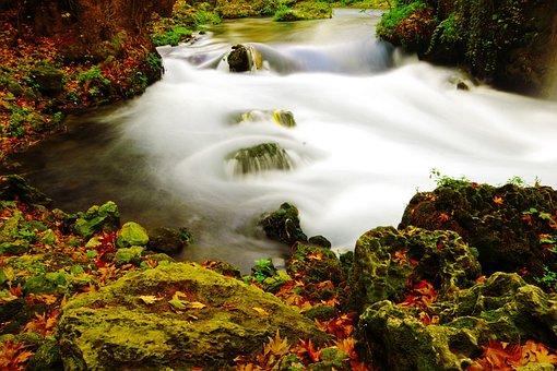 Nature, Long Exposure, Green, Water, Waterfall, Antalya