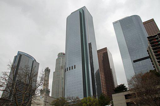 Los Angeles, Downtown, Building, Architecture, Skyline