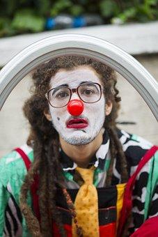 Human, Male, Clown, Red, Nose, Joke, Funny, Artist