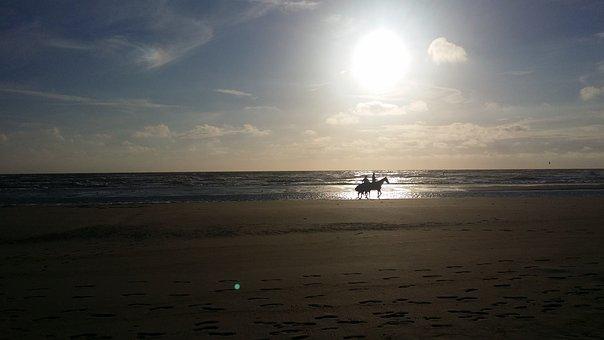 Horse Riding, Beach, Sandy Beach