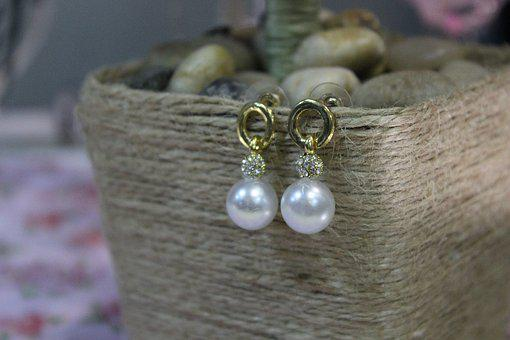 Earrings With Pearls, Bijouterie, Jewelry, Beads