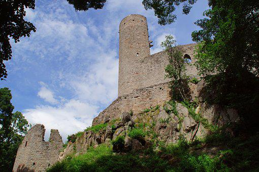 Castle, Ruin, Heritage, Fortification, France, History