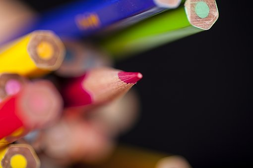 Pen, Color, Macro, Backgrounds, Pictures, School
