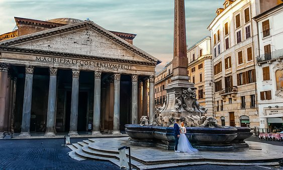 Rome, Italy, Love, Romantic, Wedding, Couple, Man