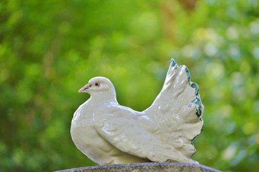 Dove, Porcelain Dove, Deco, Figure, Bird, Decoration