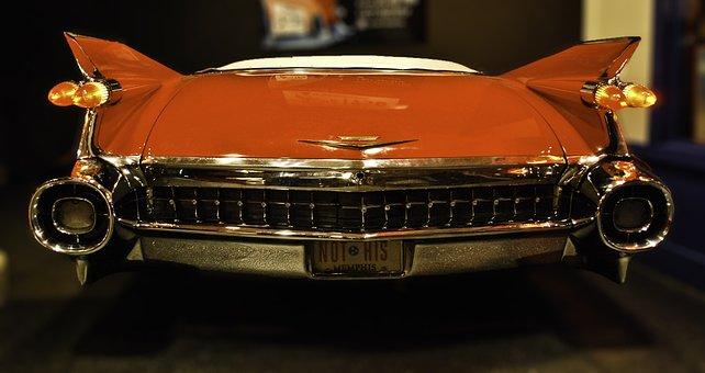 Car, Elvis, Presley, Home, Red