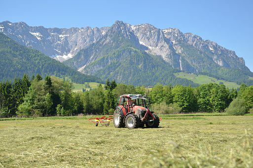 Summer In The Hills, Hay, Tractor, Heuwenden
