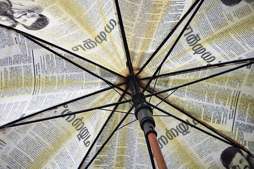 Umbrella, Umbrella Inner, Abstract, Kerala, White