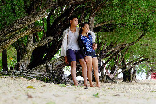 Koh Samet, Beach Coral, Couples