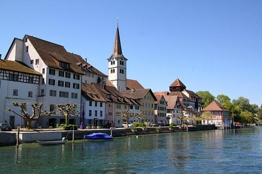 Diessenhofen, Switzerland, Thurgau, Rhine, Old Town