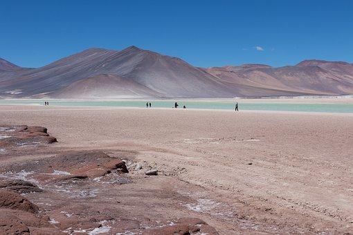 Chile, Laguna, Sand, Lake, Chilean, Volcanic, Landscape