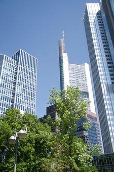 Skyscrapers, Frankfurt, Germany, Willy Brandt Sq