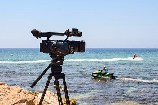 Camera, Professional, Equipment, Stand, Filming, Sony