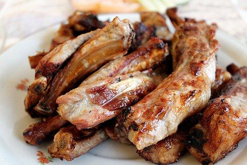 Pork Ribs, Bbq Ribs, The Ribs On The Fire, Shish Kebab