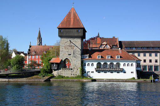 Constance, Tower, Historically, Architecture, Building