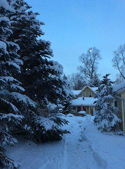 Home, Winter, Cozy, Snow, Christmas, Warm, House