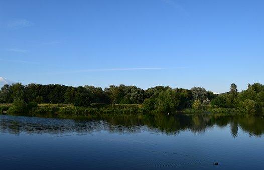 Lake, Lodge Lake, Milton Keynes, Landscape, Park, Water