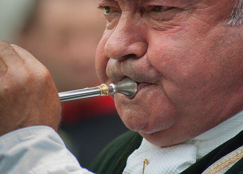 Musician, Trunk, Wind Instrument, Blow