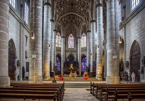 Swabian Gmünd, Münster, Gothic, Parler, Church, Altar