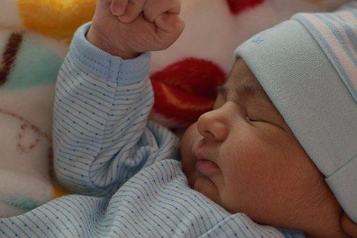 Baby, Sleep, Peaceful, Child, Face, Head, Hands, Asleep