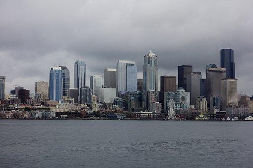 Seattle, Sea, Port, Construction, Large F, Embankment