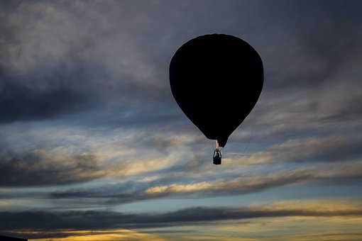 Eventide, Hot Air Ballooning, Sky, Clouds, Colorful