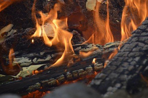 Fire, Burn, Campfire, Flame, Wood Fire, Flame Log Fire