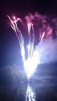 Fireworks, Party, Kassel, Zissel, Light, Fire, Pop