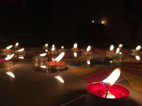 Flame, Diwali, Rangoli, Joy, Festive
