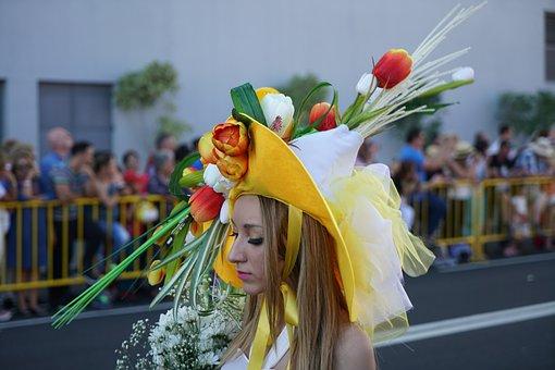 Flower Festival, Floral Decorations, Headdress, Girl