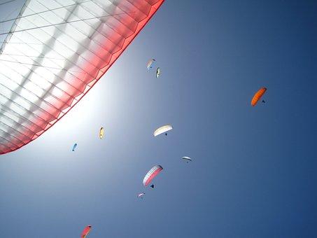 Paragliding, Sky, Freedom, Sun, Sunny Day, Free, Dream