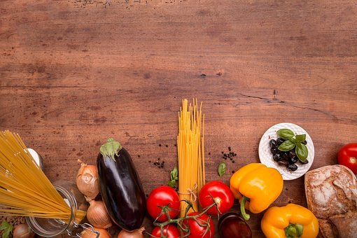 Eat, Italian Cuisine, Cooking Book Cover, Background