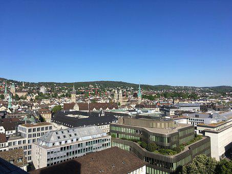 Zurich, Tower, Munster, Cityscape, Grossmunster