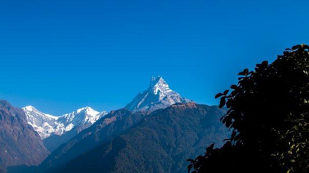 Fishtail, Mountain, Himalayas, Nepal, Nature, Sky