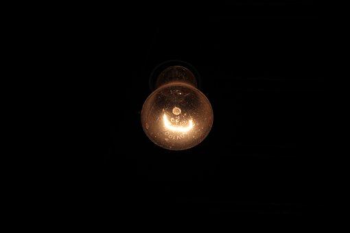 Night, Lightbulb, The Filament