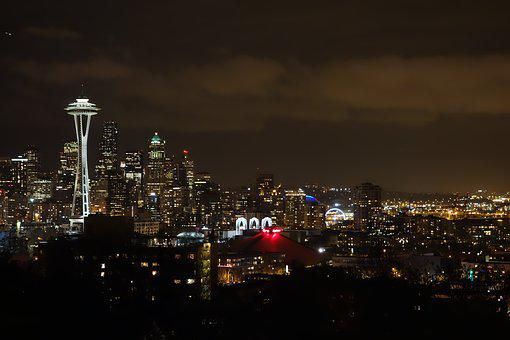 Seattle, Night View, The Space Needle, 燈, A Surname