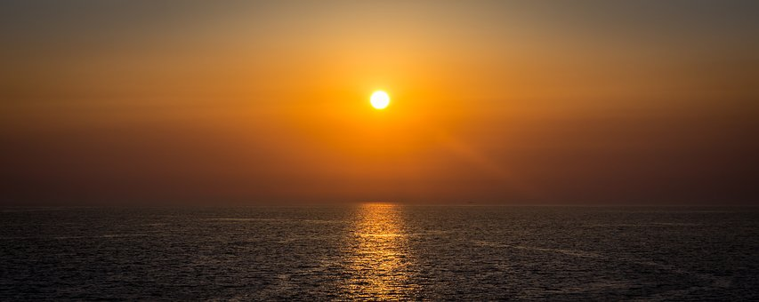 Glow, Sunset, Solar, Sea, Morning, In The Evening, Sky