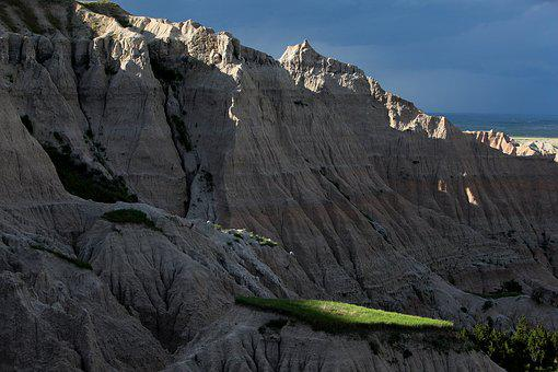 Badlands, Sunset, South Dakota, Landscape