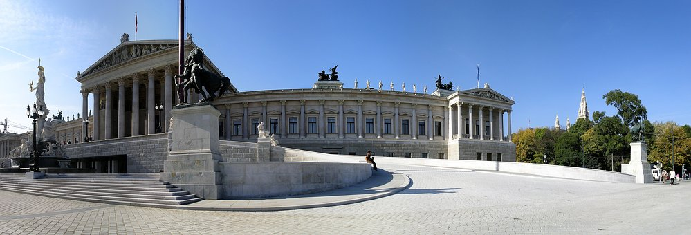 Vienna, Parliament, Pallas-athene Fountain