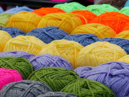 A Ball Of Yarn, Colors, Market, Spring
