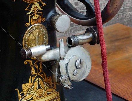 Sewing Machine, Antique Bobbin Winder, 1890, Singer