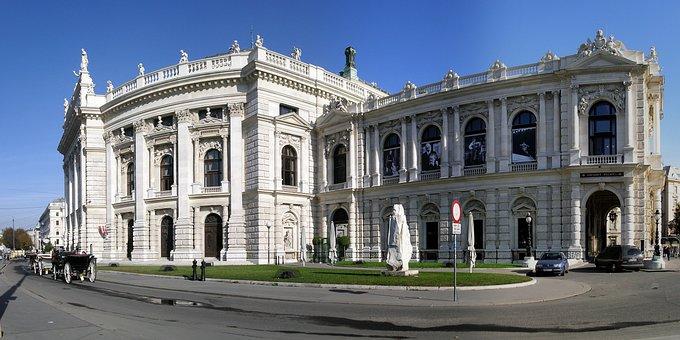 Vienna, Burgtheater, Ringroad, Panorama, Austria