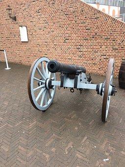 Canon, Arms, Weapon, Old, War, Antique, Battle