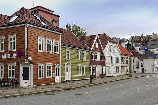 Bergen, Norway, Travel, Europe, Architecture, House